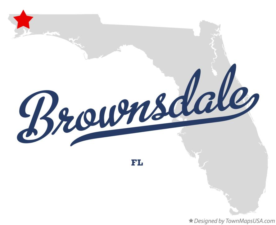 Map of Brownsdale Florida FL