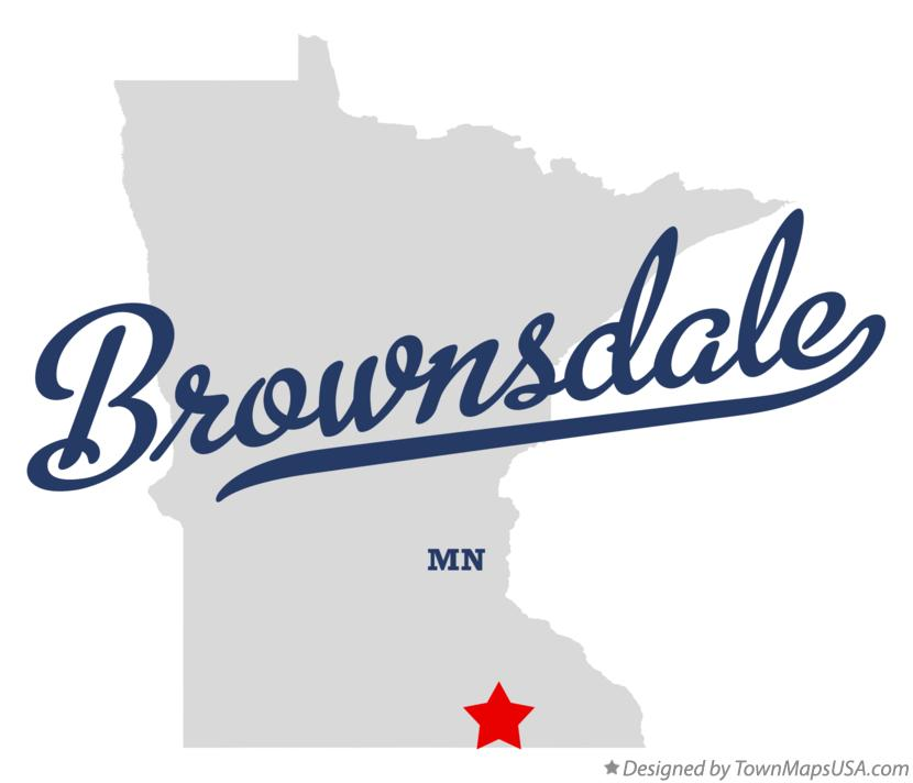 Map of Brownsdale Minnesota MN