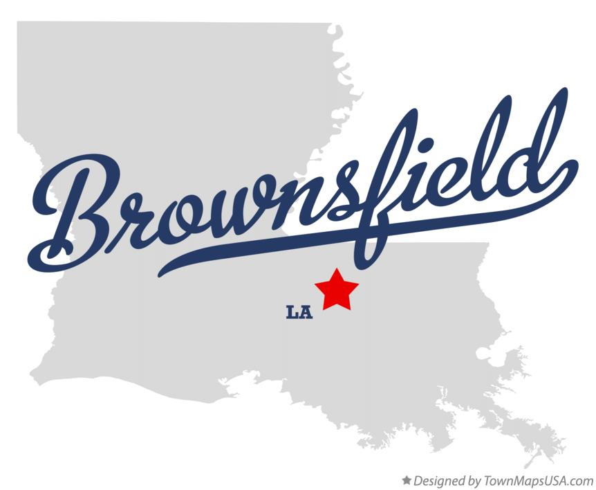 Map of Brownsfield Louisiana LA