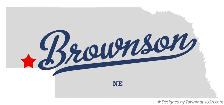 Map of Brownson Nebraska NE
