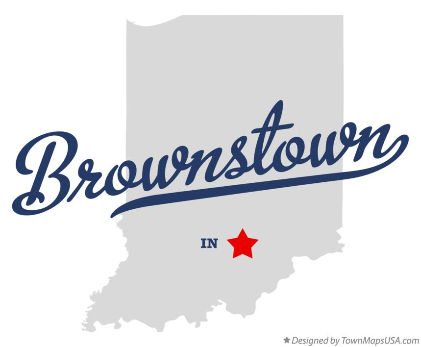 Map of Brownstown Indiana IN