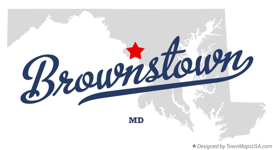 Map of Brownstown Maryland MD
