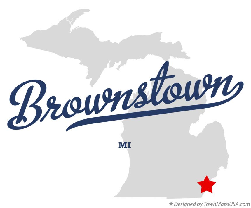 Map of Brownstown Michigan MI