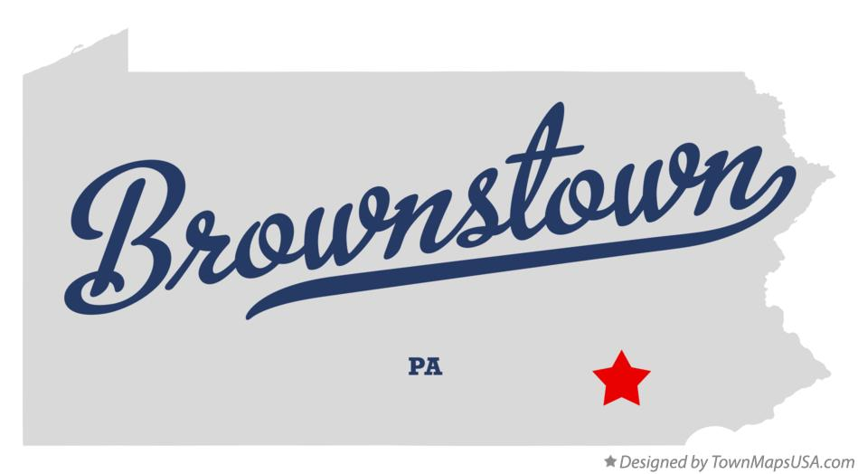 Map of Brownstown Pennsylvania PA