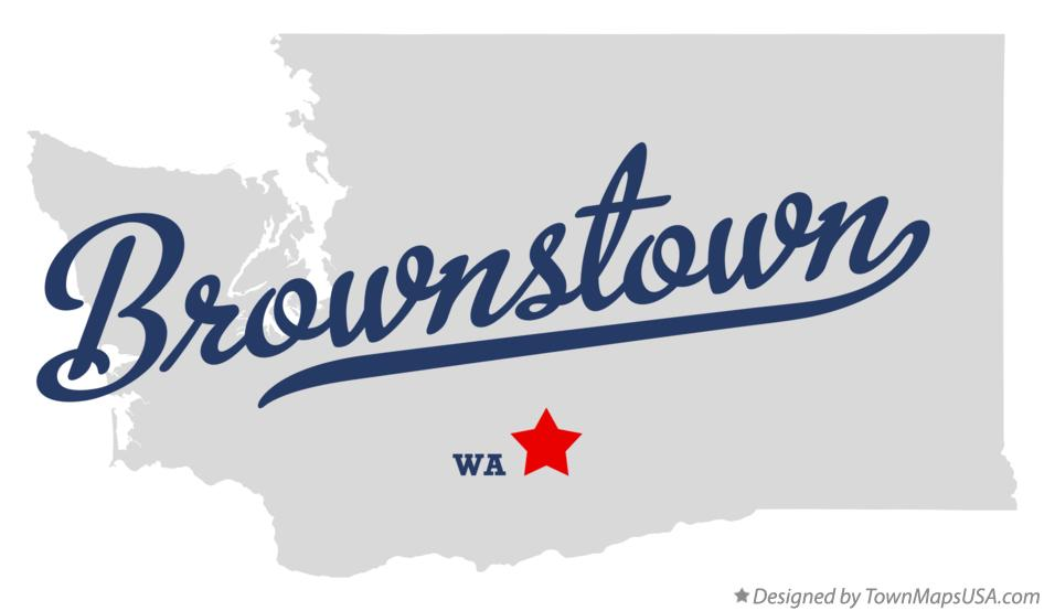 Map of Brownstown Washington WA
