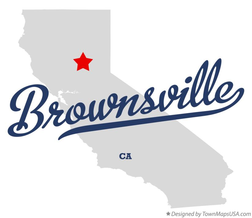 Map of Brownsville California CA