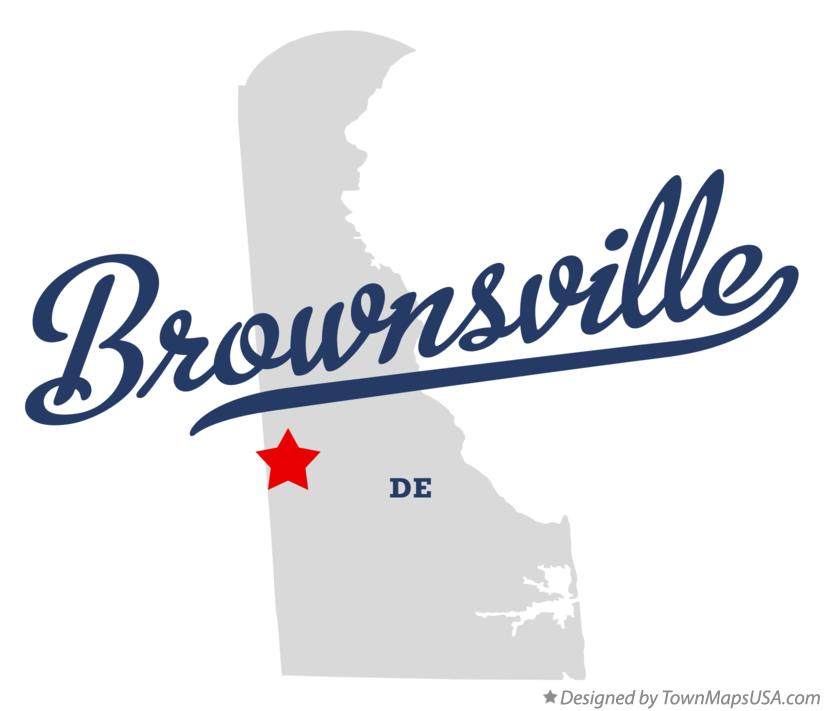 Map of Brownsville Delaware DE