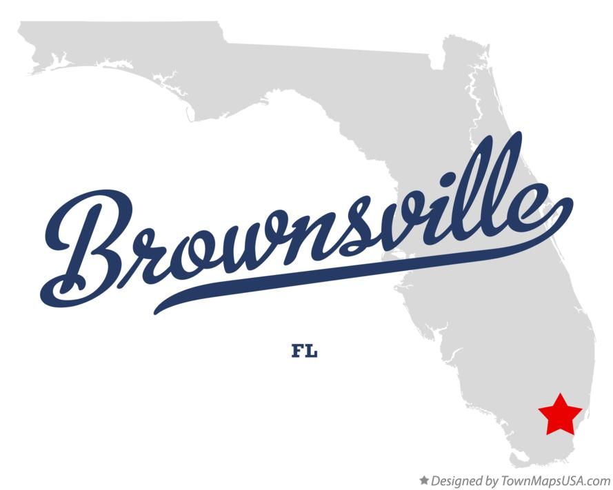 Map of Brownsville Florida FL
