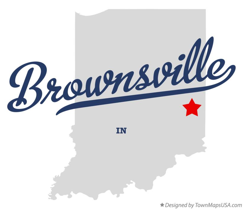 Map of Brownsville Indiana IN