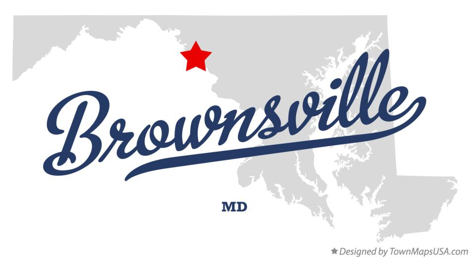 Map of Brownsville Maryland MD