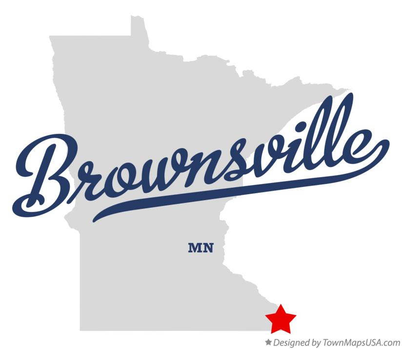 Map of Brownsville Minnesota MN