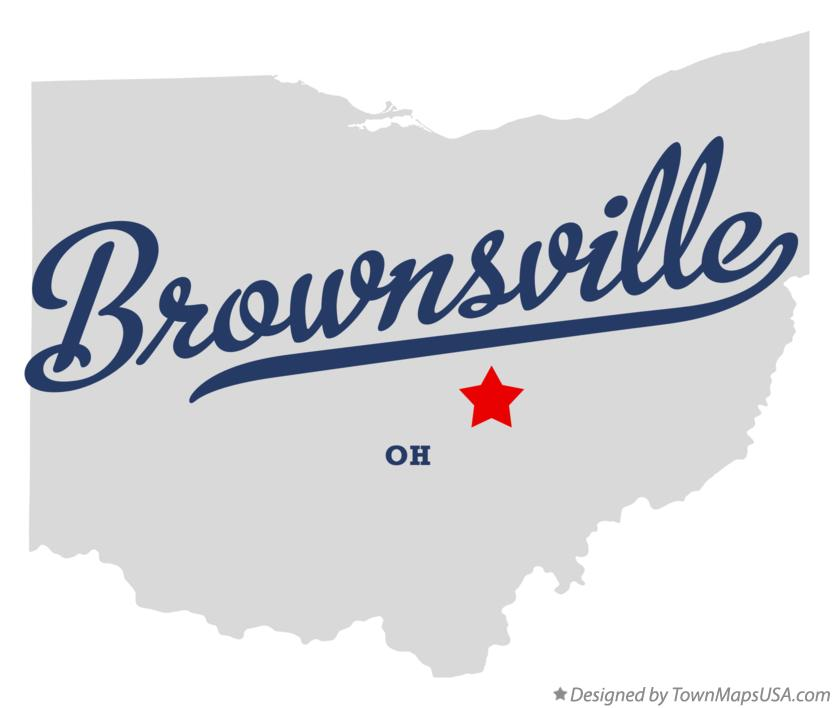 Map of Brownsville Ohio OH