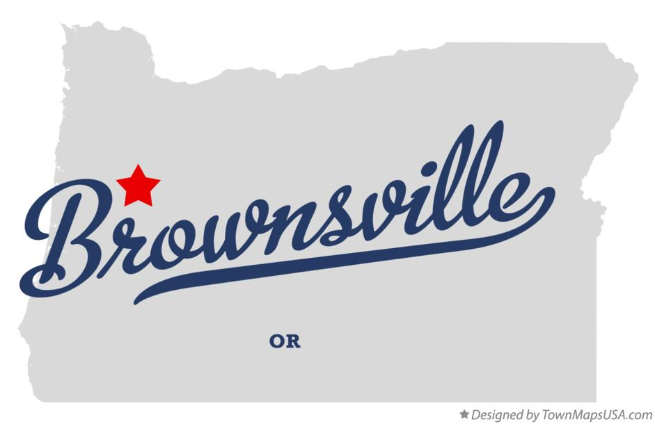 Map of Brownsville Oregon OR