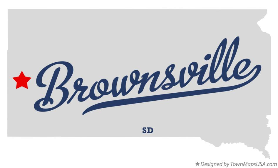 Map of Brownsville South Dakota SD