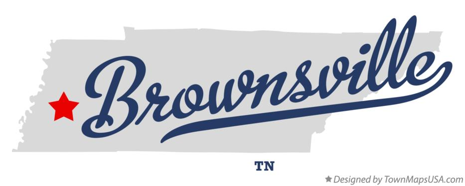 Map of Brownsville Tennessee TN