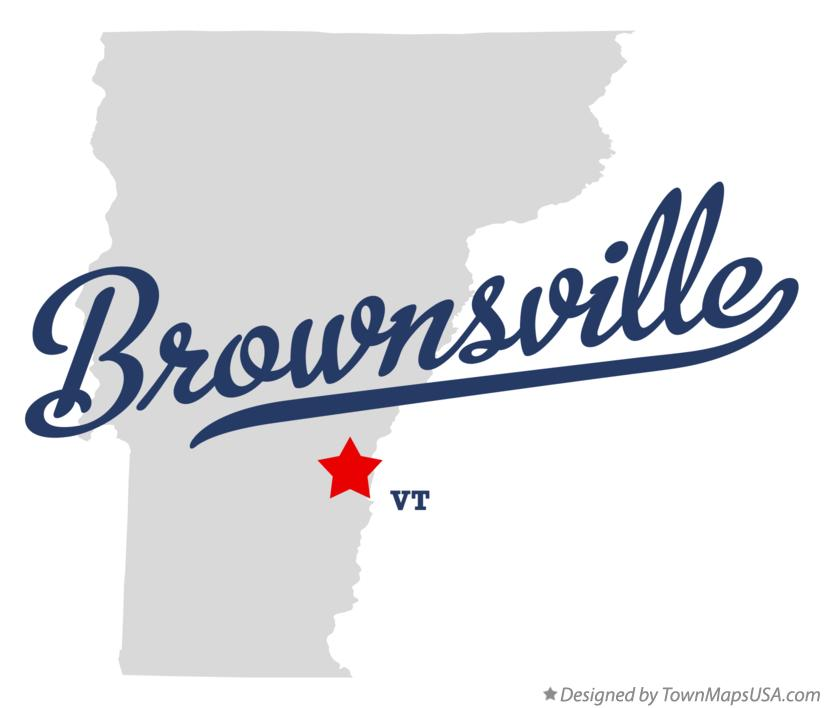 Map of Brownsville Vermont VT