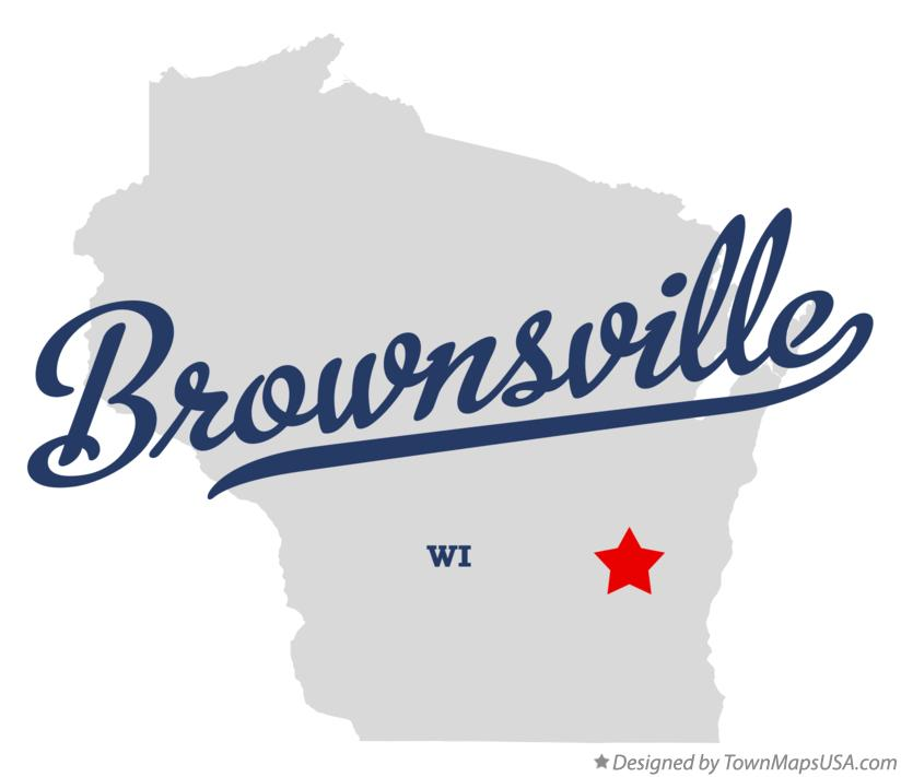 Map of Brownsville Wisconsin WI