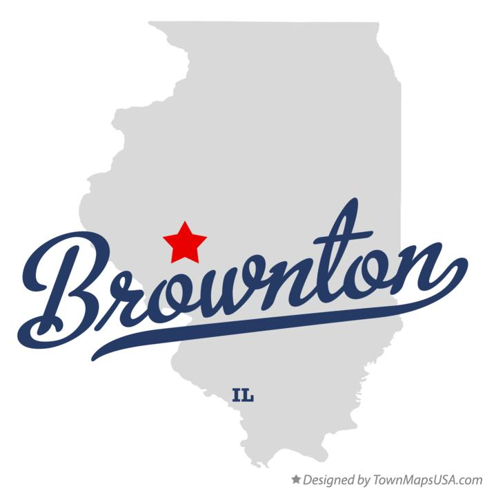Map of Brownton Illinois IL