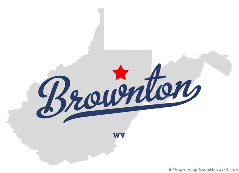 Map of Brownton West Virginia WV