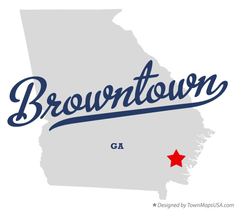 Map of Browntown Georgia GA