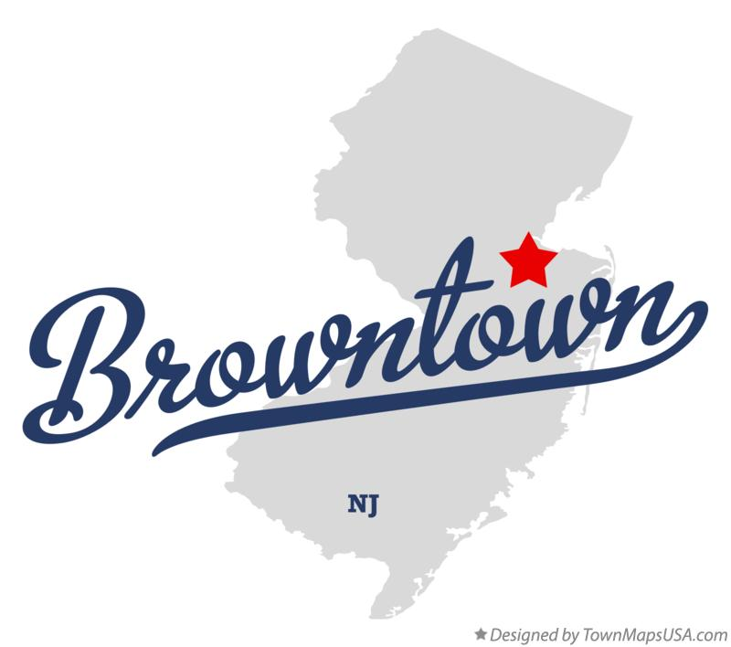 Map of Browntown New Jersey NJ