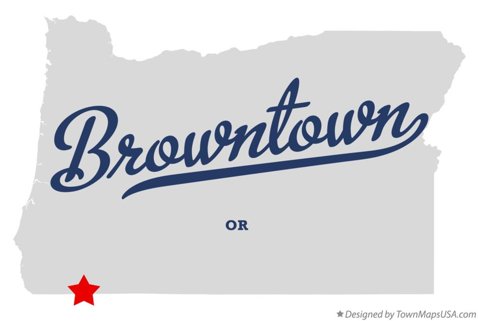 Map of Browntown Oregon OR
