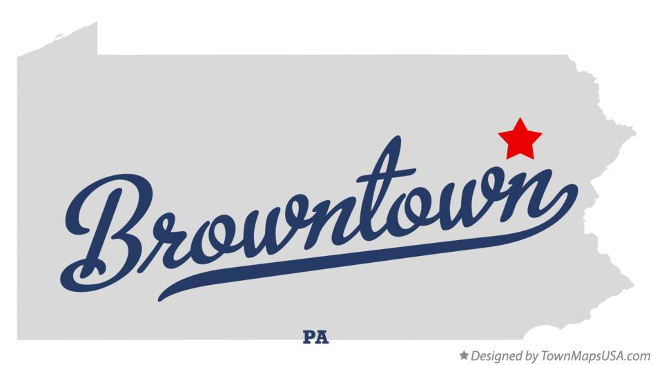 Map of Browntown Pennsylvania PA