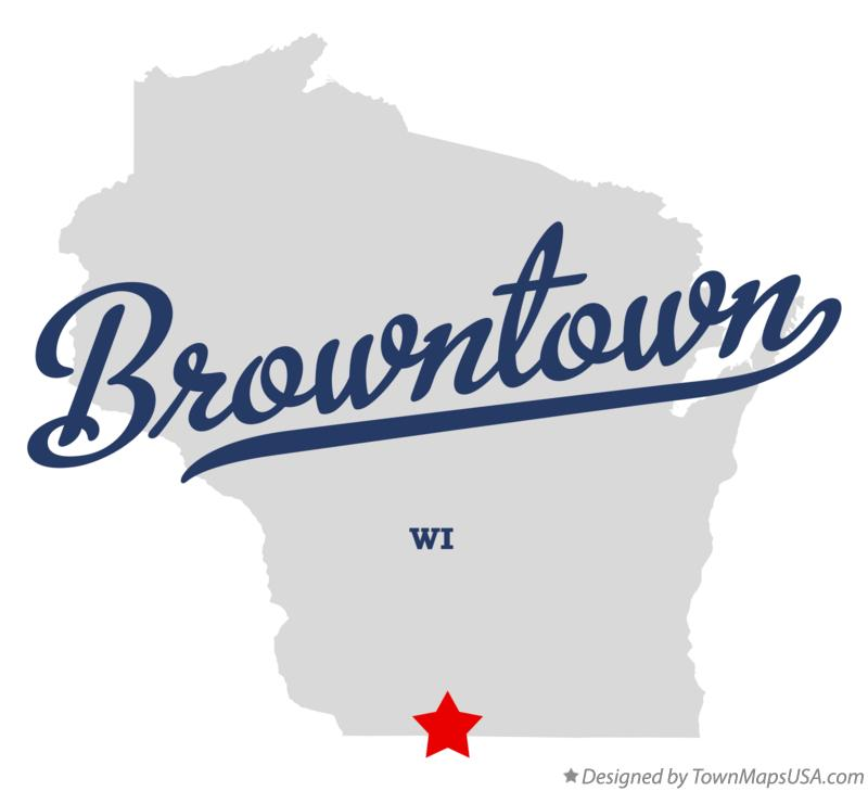 Map of Browntown Wisconsin WI