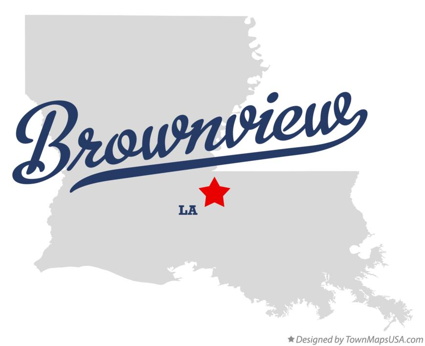 Map of Brownview Louisiana LA