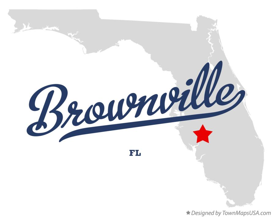 Map of Brownville Florida FL