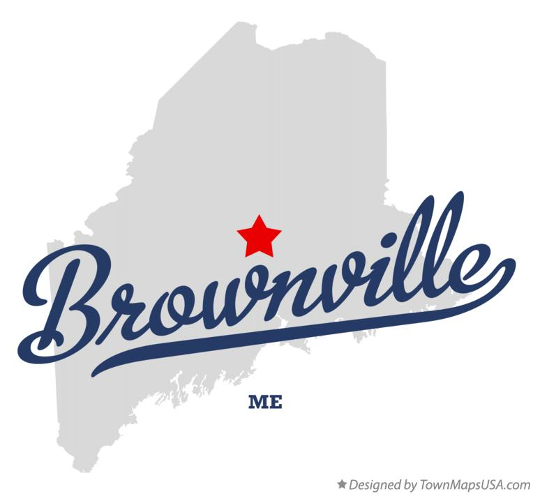 Map of Brownville Maine ME