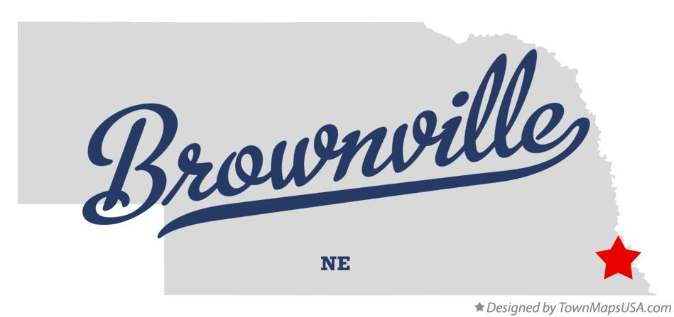 Map of Brownville Nebraska NE