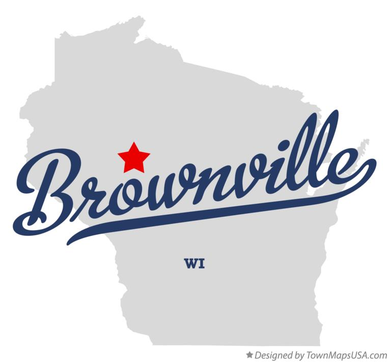 Map of Brownville Wisconsin WI