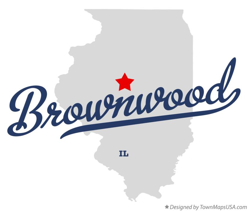 Map of Brownwood Illinois IL