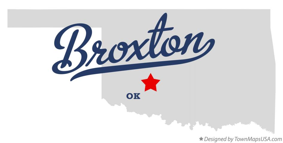 Map of Broxton Oklahoma OK