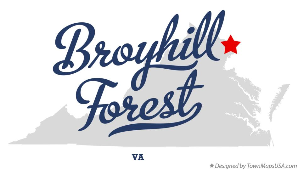 Map of Broyhill Forest Virginia VA