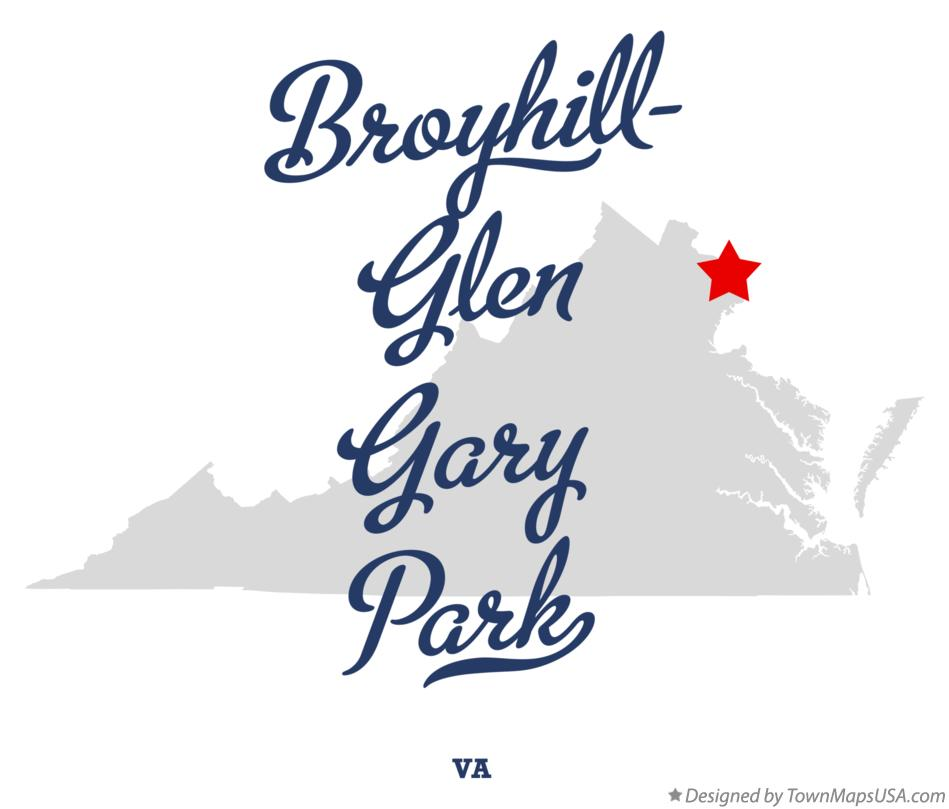 Map of Broyhill-Glen Gary Park Virginia VA