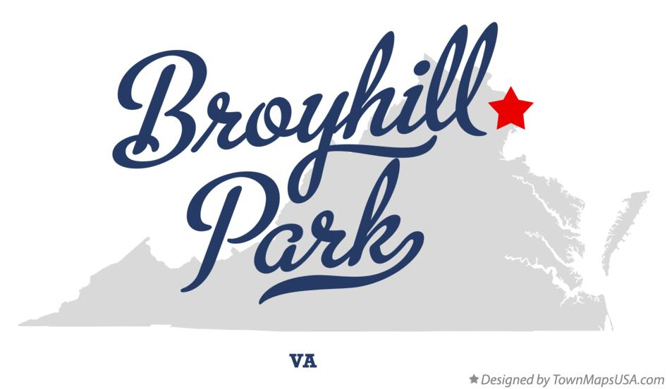 Map of Broyhill Park Virginia VA