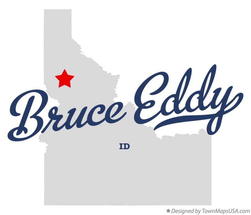 Map of Bruce Eddy Idaho ID