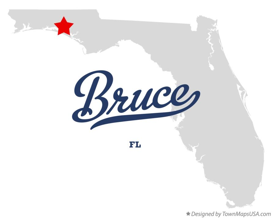Map of Bruce Florida FL