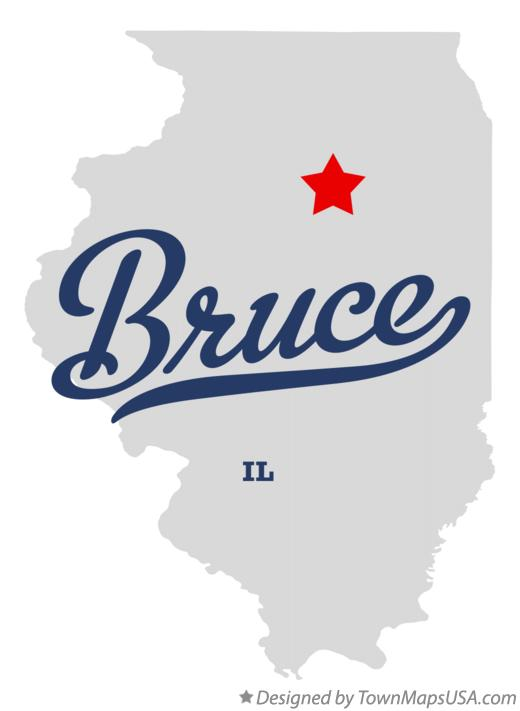 Map of Bruce Illinois IL