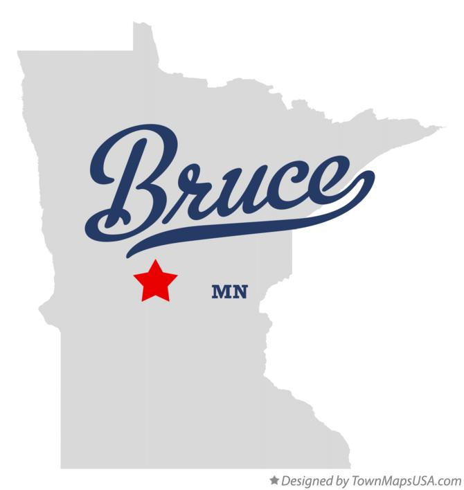 Map of Bruce Minnesota MN