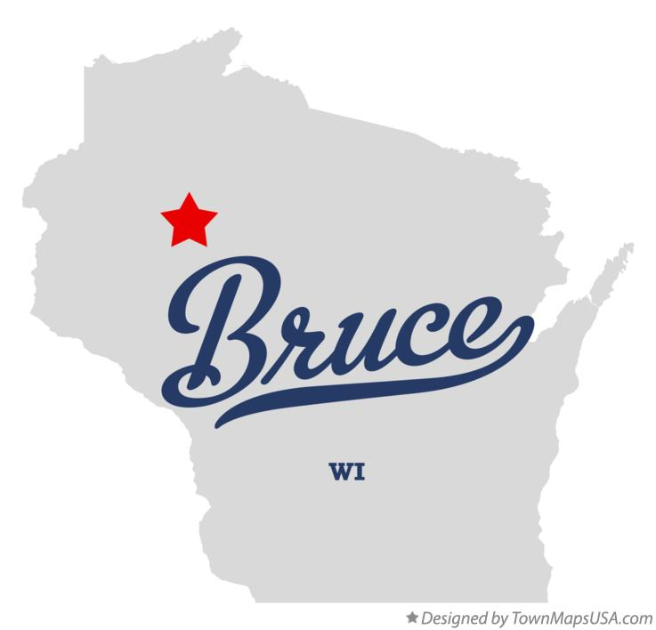 Map of Bruce Wisconsin WI