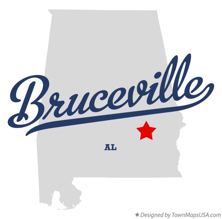Map of Bruceville Alabama AL