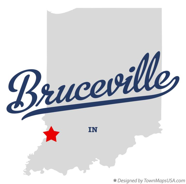 Map of Bruceville Indiana IN