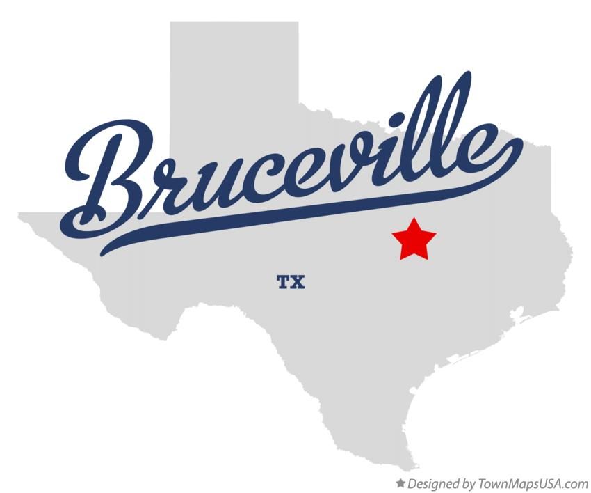 Map of Bruceville Texas TX