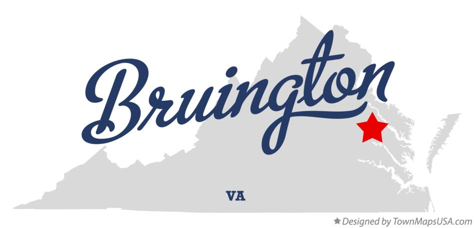 Map of Bruington Virginia VA