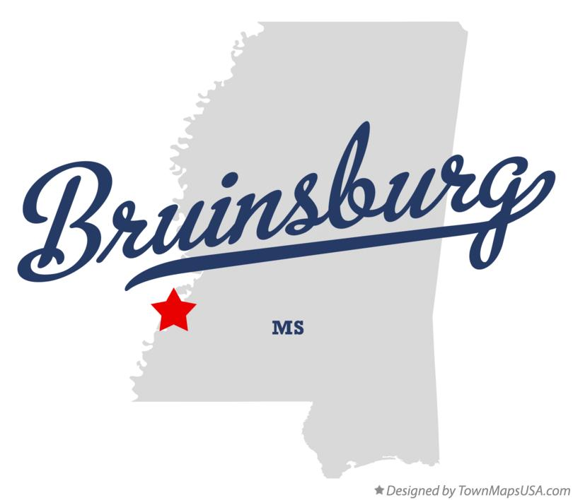 Map of Bruinsburg Mississippi MS
