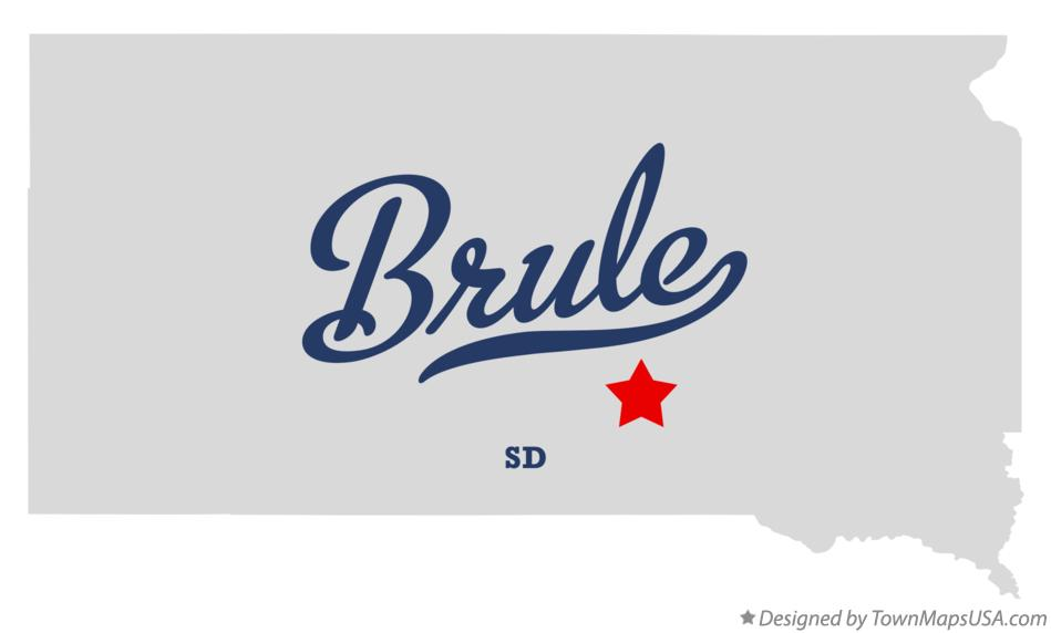 Map of Brule South Dakota SD