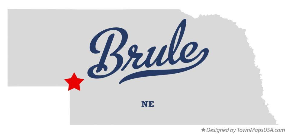 Map of Brule Nebraska NE
